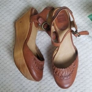FRYE Blair Ankle Strap Wedges